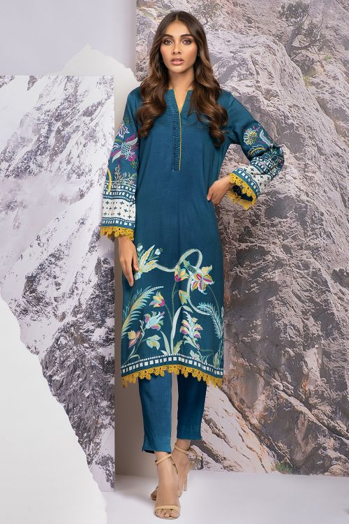 1 Pc Embroidered Viscose Shirt