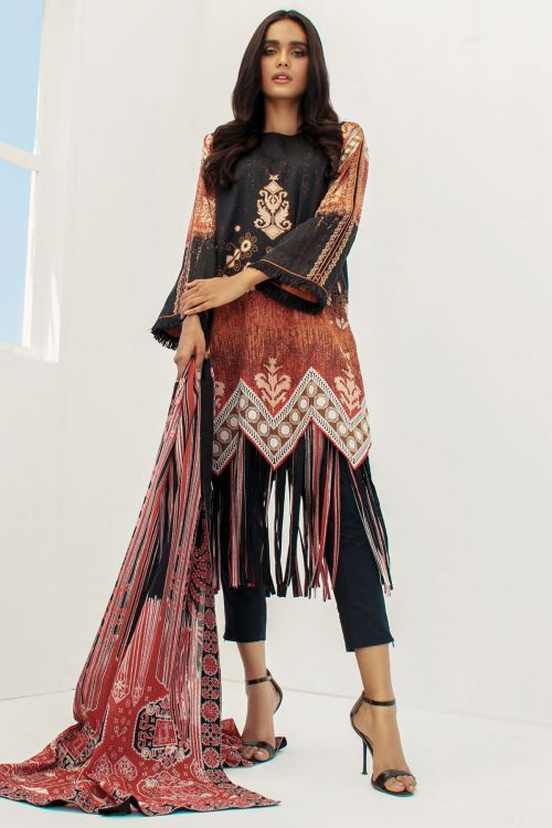 3 Pc Printed Lawn Suit With Lawn Dupatta