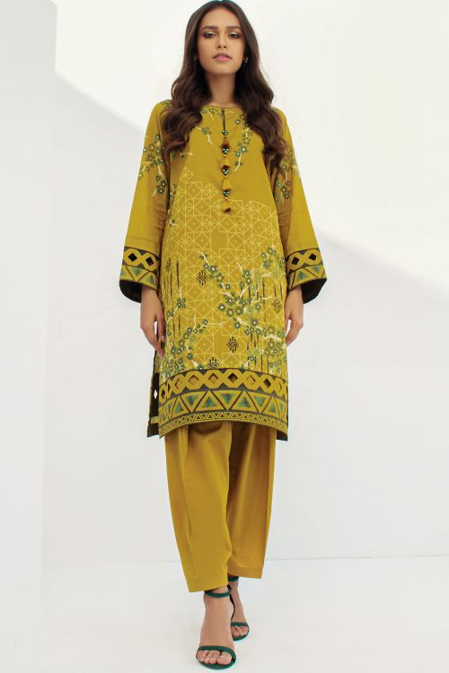 2 Pc Printed Lawn Suit With Cambric Trouser
