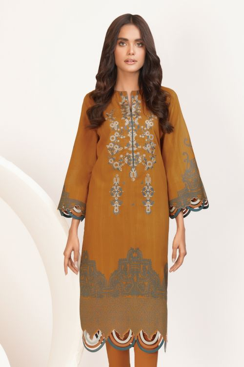 1 Pc Embroidered Lawn Shirt